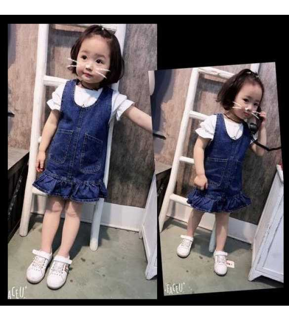 Girl Set Overall Dress Hello