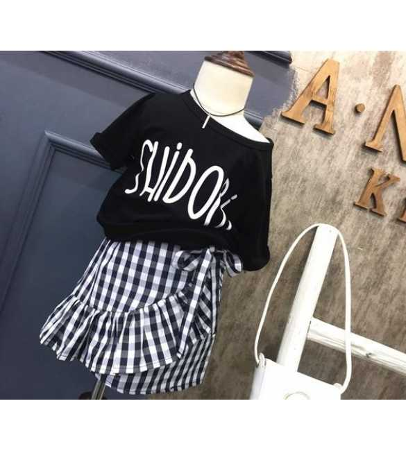 Girl Set Shidori Plaid Black