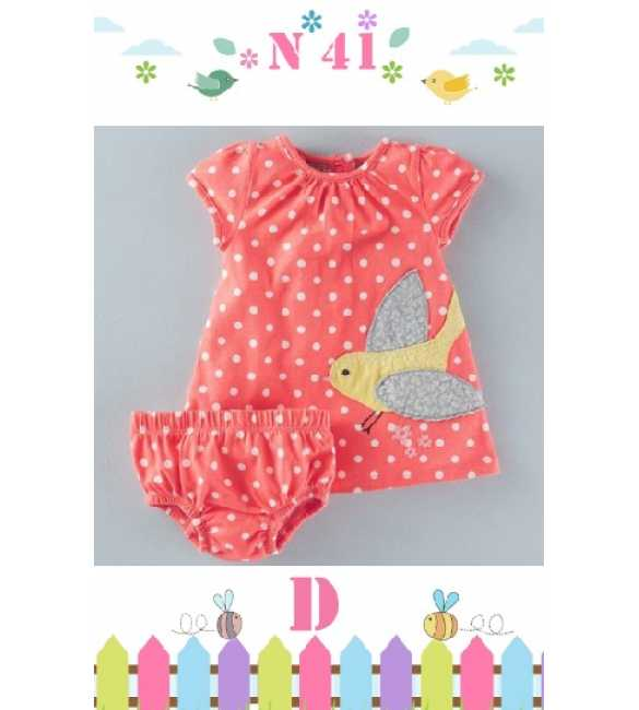 GirlSet Casual NEXX Kids 41 D Bird Polkadot