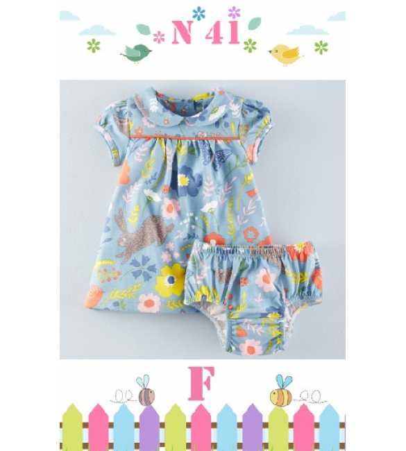 GirlSet Casual NEXX Kids 41 F Rabbit and Flower
