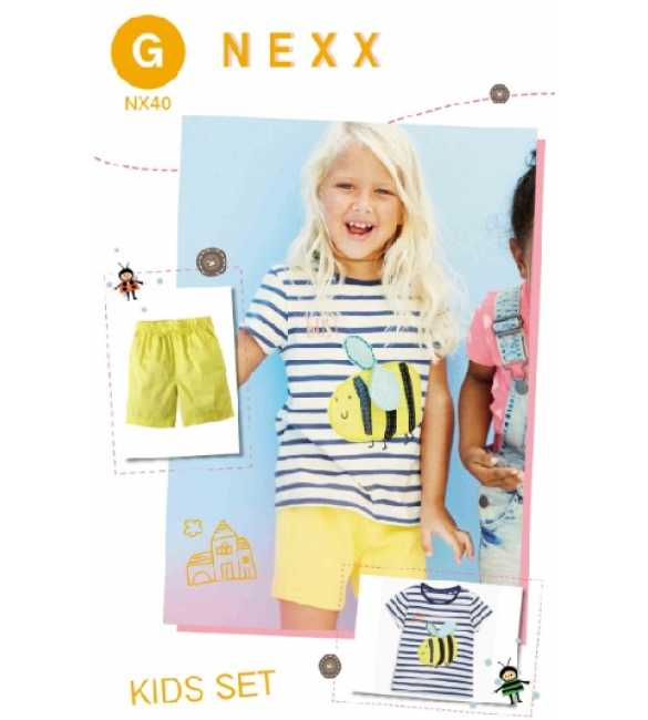 Girlset Casual Nexx Kids 40 G Bee Stripe