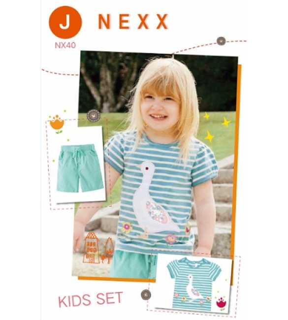 Girlset Casual Nexx Kids 40 J Duck Stripe Blue