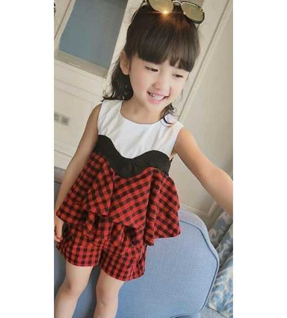 Girlset Monica Plaid Red