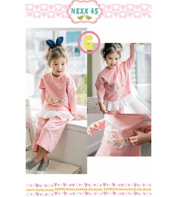 Girlset Nexx Kids 45 G Flower Pink