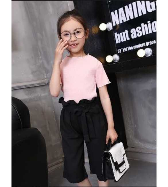 Girlset Pink Pants Black