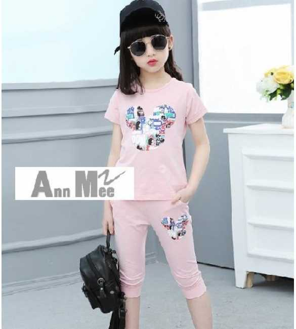 Set Ann Mee Mickey Pink (BIG SIZE)
