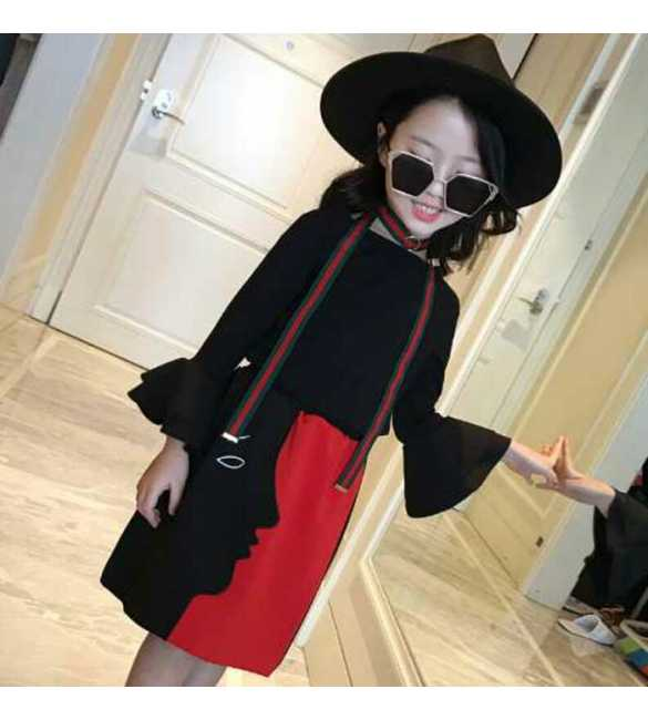 Set Dress Black Red