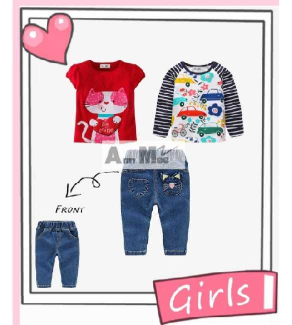Set Girl Ann Mee 3in1 Cat Be Mine (MED SIZE)