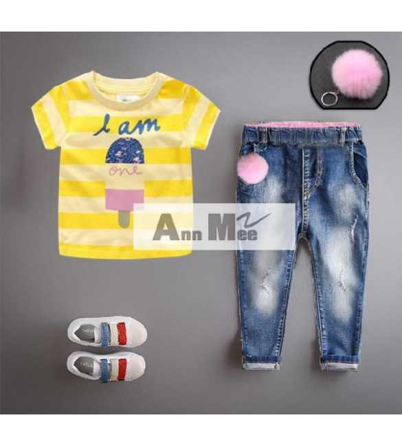 Set Girl Ann Mee Ice Cream Yellow (MED SIZE)