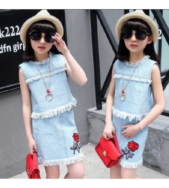 Set Girl Denim Rose