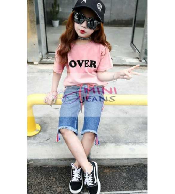 Set Girl Mini Jeans Pink Lover