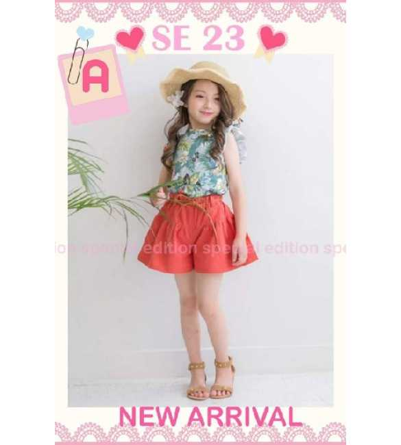 Set Girl Special Edition SE 23 A Flower Red Pant