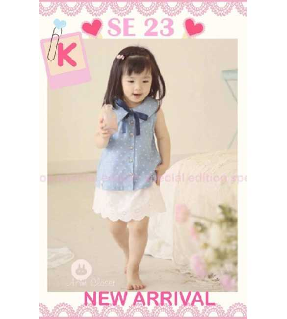 Set Girl Special Edition SE 23 K Blue Polkadot