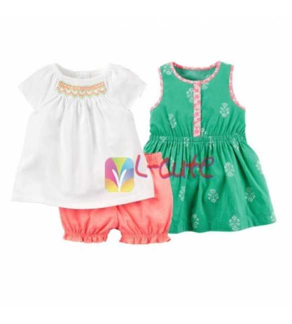 Set L-Cute 3in1 Blouse White
