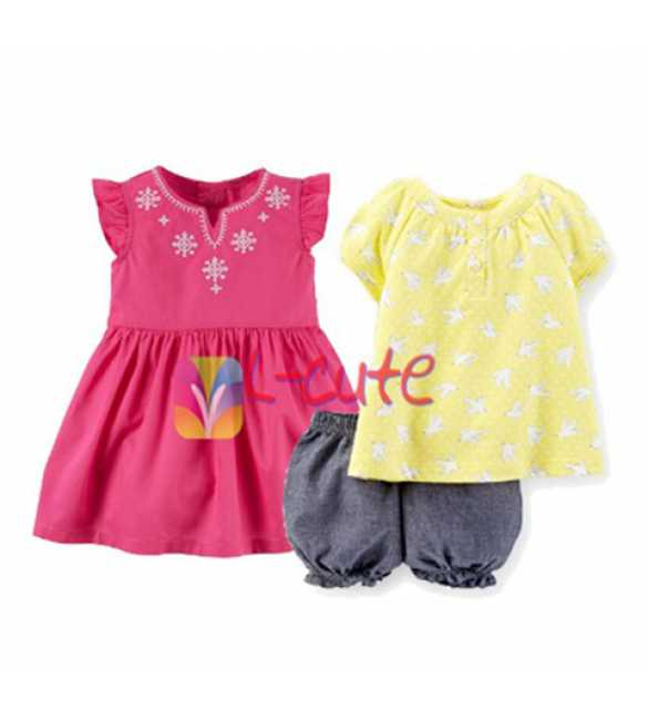 Set L-Cute 3in1 Blouse Yellow
