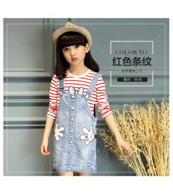 Set Overall Dress MM Stripe Red