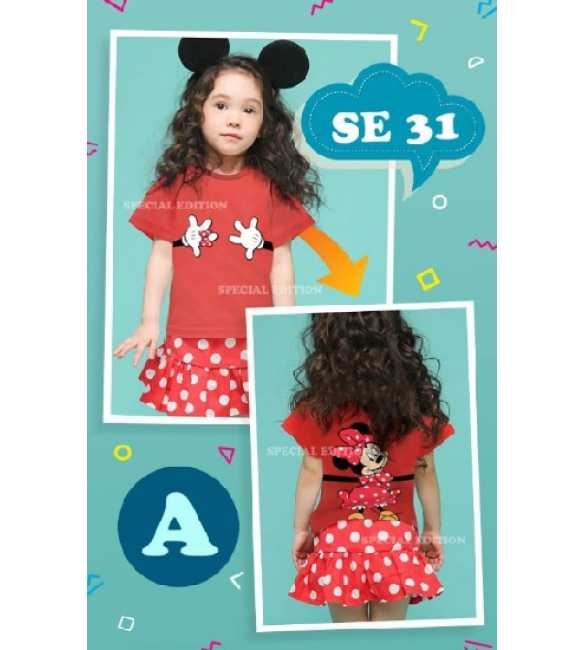 Setelan anak Special Edition SE 31 A Minnie Red