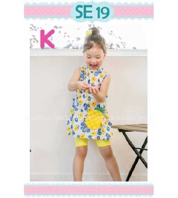 Setelan anak perempuan Special Edition SE 19 K Printed Flower Blue