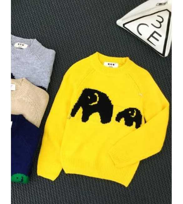 Sweater Anak Elephant Yellow