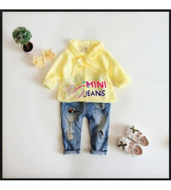 Girlset Mini Jeans Top Yellow