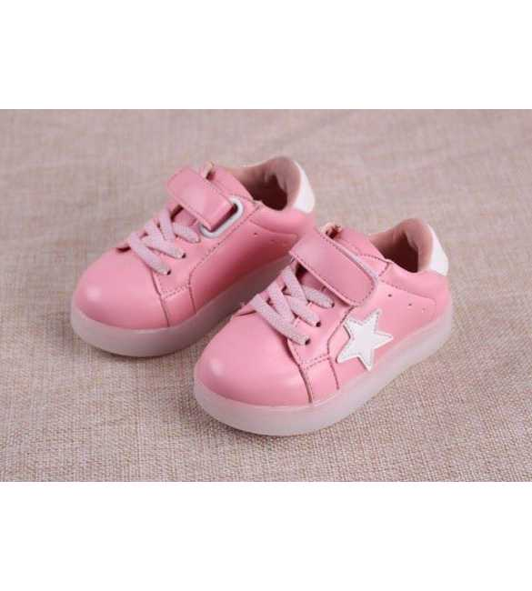WS053 - LED Star Shoes Pink (SMALL SIZE)