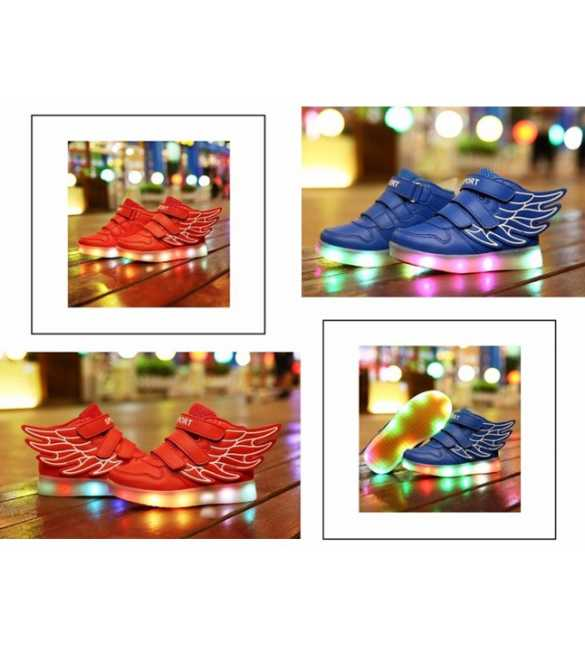WS054 - Sepatu anak LED Wings (SMALL SIZE)