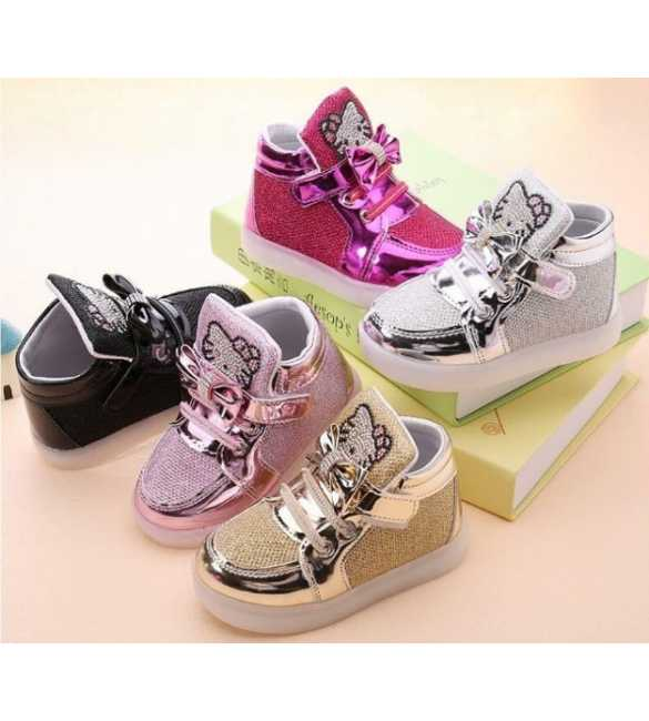 WS055 - LED Hello Kitty Blink Shoes (MED SIZE)