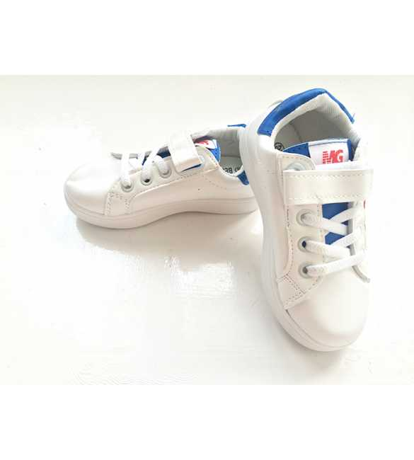 WS056 - Star Sneakers White Blue (MED SIZE)