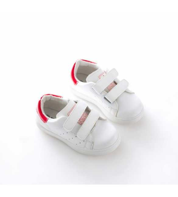 WS057 - Basic Sneakers White Red (BIG SIZE)