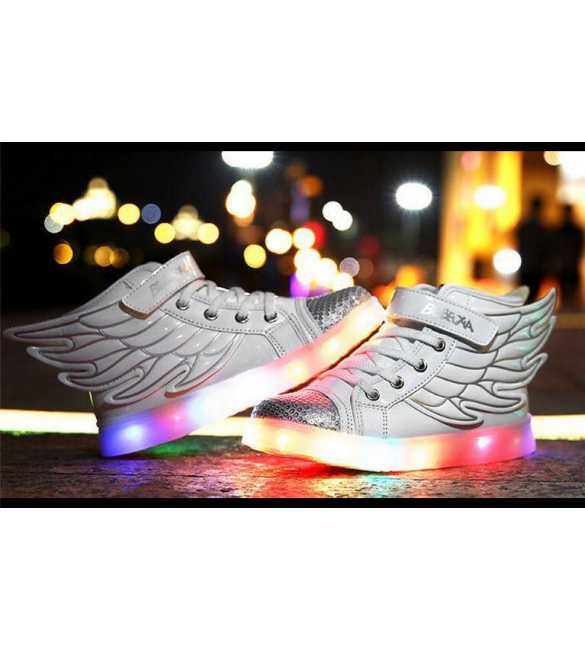WS058 - LED Wings Shoes White (MED SIZE)