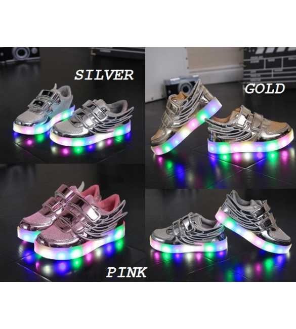 WS063 Sepatu anak LED Wings (SMALL SIZE)