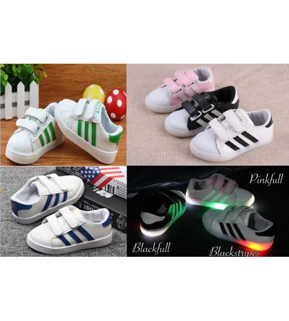 WS065 Sepatu anak LED Superstar (SMALL SIZE)