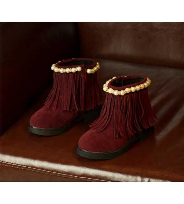 WS033 - Boot Pearl Red