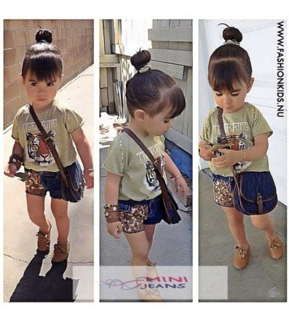 Setelan Anak Mini Jeans Tiger Ring