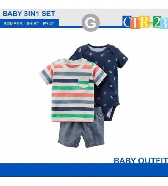 Baby Boy Carter 3in1 Color Stripes