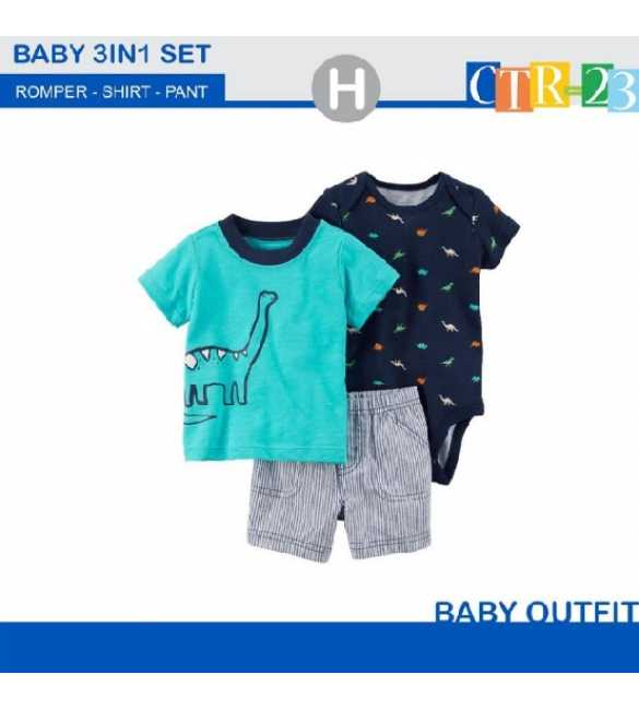 Baby Boy Carter 3in1 Dino Blue