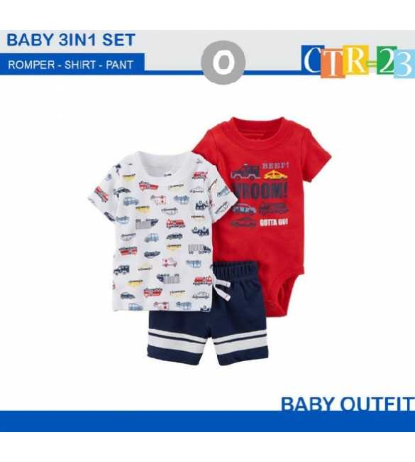 Baby Boy Carter 3in1 Vroom Red