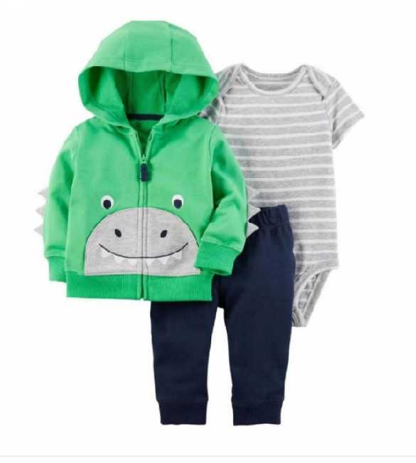 Baby Boy Set 3in1 Dino Green