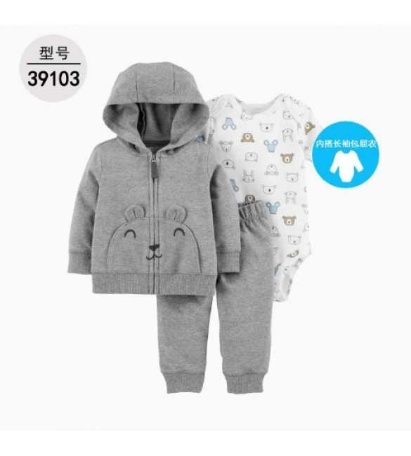 Baby Boy Set 3in1 hoodie gray bear