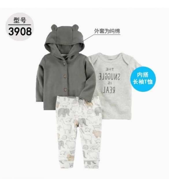 Baby Boy Set 3in1 hoodie snuggle bear