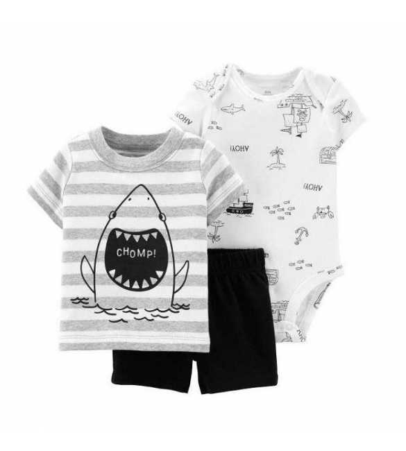 Baby Boy set 3in1 Ahoy Shark