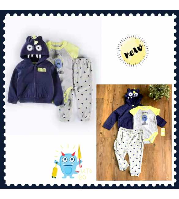 Set Jumper Bayi 3in1 Mummy Monster