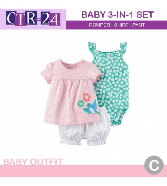 Baby Girl Carter 3in1 Bird Flower