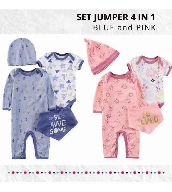 Set Baju Jumper bayi 4in1 Awesome