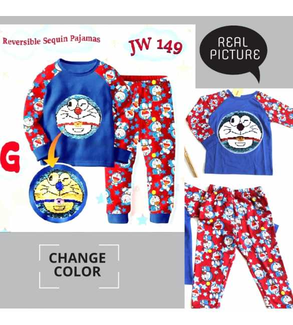 Piyama anak Junior Wardrobe JW 149 G Doraemon_BIG SIZE