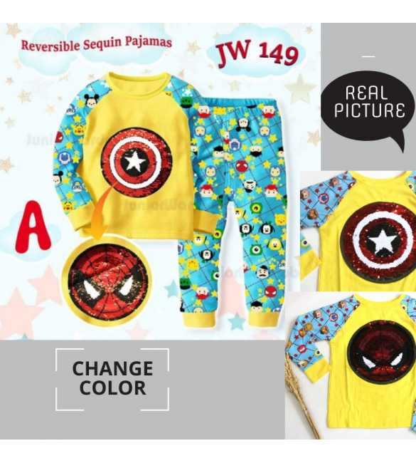 Piyama anak Junior Wardrobe JW 149 A Captain America_BIG SIZE