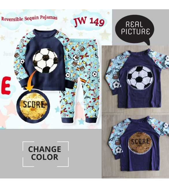 Piyama anak Junior Wardrobe JW 149 E Football_BIG SIZE