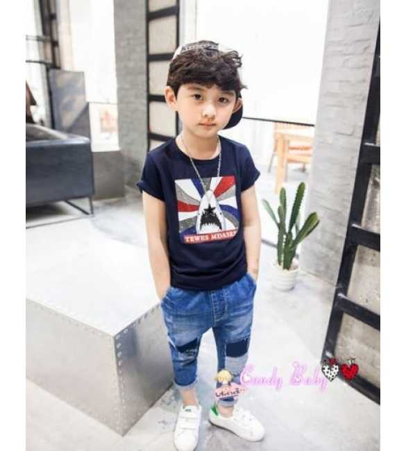 Set Candy Baby Boy Shark Navy Blue