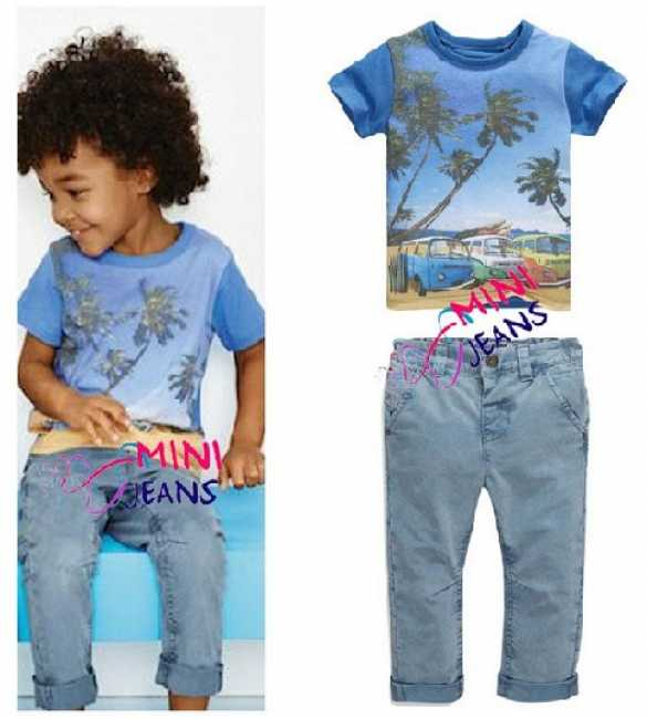 Set Mini Jeans Boy Summer Comes