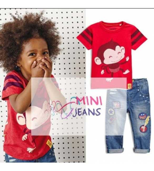 Set Mini Jeans Cute Monkey